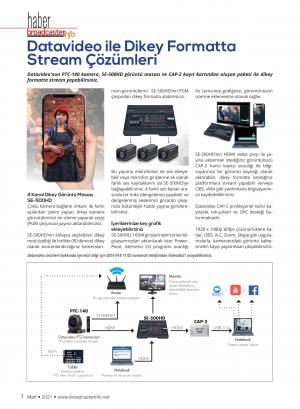 Datavideo ile Dikey Formatta Stream Çözümleri