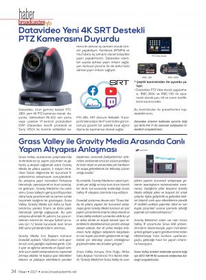 Datavideo Yeni 4K SRT Destekli PTZ Kamerasını Duyurdu