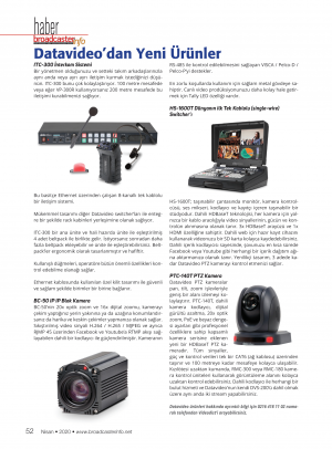 Datavideo' dan Yeni Ürünler